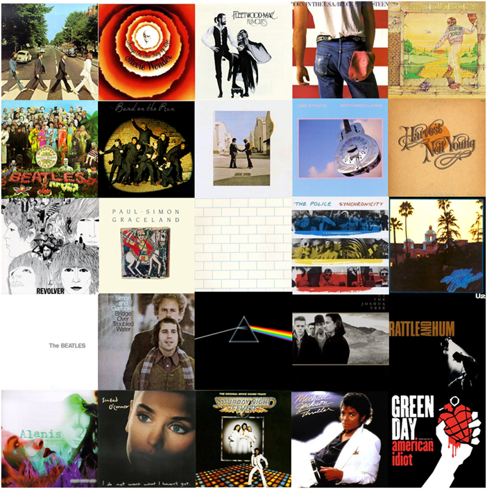 A Mosaic of Album Covers